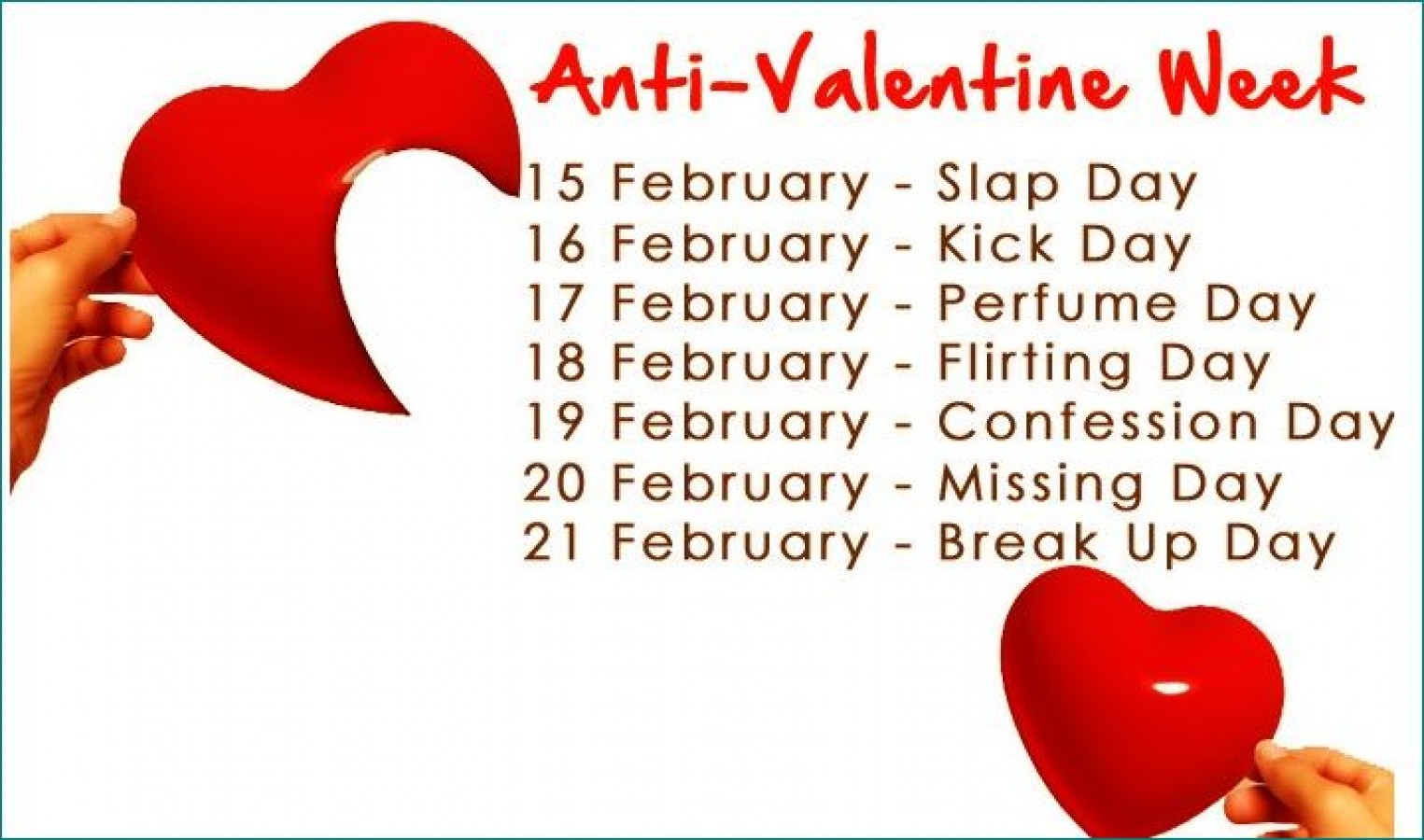 anti valentine s week starts today know which day on which date