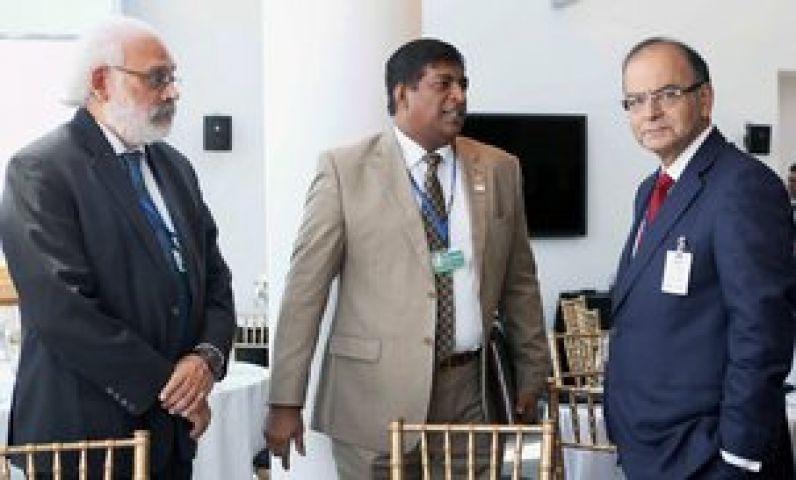 FM Jaitley meets Srilanka,Thailand & UK minister
