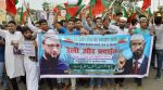 Protest in Jaipur in provision of Naik,Owaisi