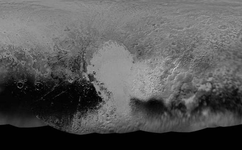 Nasa has unveiled a composite map of Pluto