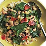 Black-Eyed Peas and Greens, helpful to keep Heart healthy !