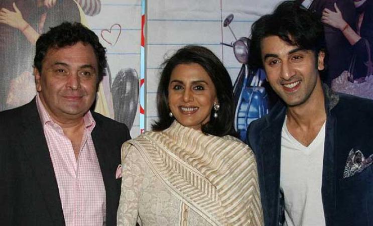 Ranbir Kapoor reunites with Rishi-Neetu Kapoor, see pictures