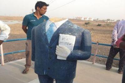 अब मध्य प्रदेश में भी अंबेडकर की मूर्ति तोड़ी गई