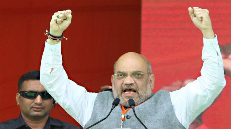 तेलंगाना में गरजे अमित शाह, पुछा-  क्या राहुल दे सकते हैं पाक को पीएम मोदी जैसा जवाब ?