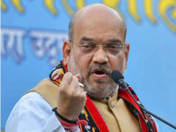 फिरोजाबाद में शाह ने की जनसभा, सपा-बसपा गठबंधन पर साधा निशाना