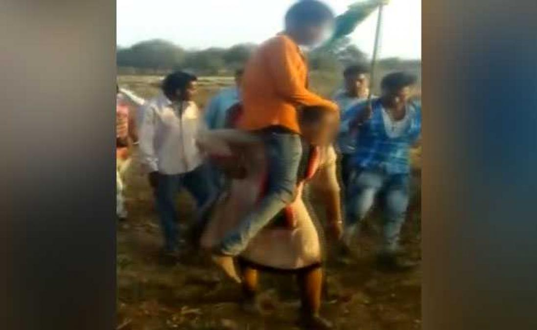Viral Video: Jhabua woman forced to parade with boyfriend on the shoulder