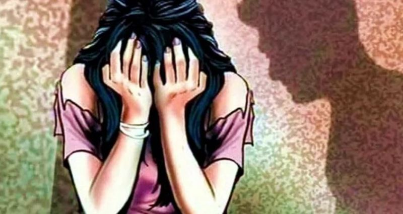 9th class student Raped in the house after locking her parents in room