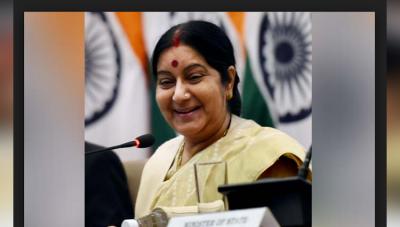 अस्ताना में सुषमा स्वराज ने नेहरू से लेकर मनमोहन तक साधा निशाना