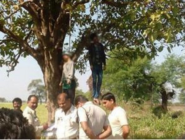 Maharashtra: The dead bodies of lover couples found hanging from the tree