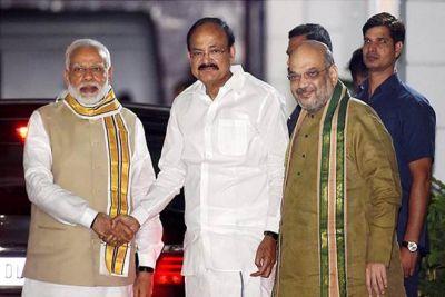 वेंकैया नायडू को उपराष्ट्रपति बनने पर पीएम मोदी ने दी बधाई