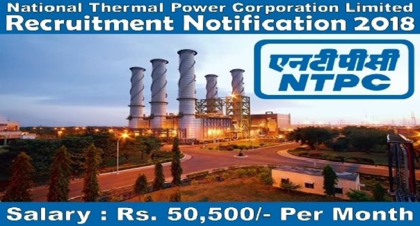 NTPC RECRUITMENT 2018: Limited Vacancy for the post of Research Associate
