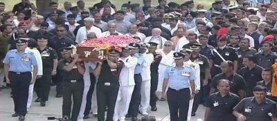 अलविदा अटल : स्मृति स्थल पहुंचा वाजपेयी का पार्थिव शरीर, थोड़ी देर में होगा अंतिम संस्कार