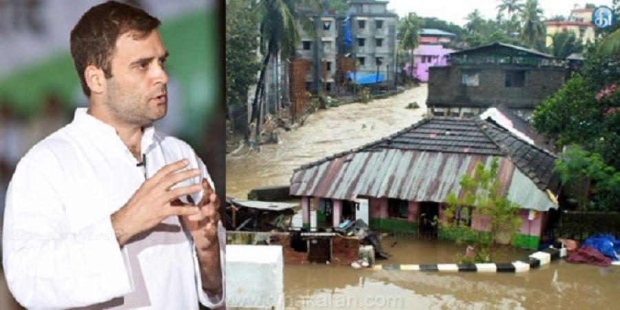 केरल बाढ़ पर सियासी खेल, कांग्रेस ने की राष्ट्रीय आपदा घोषित करने की मांग