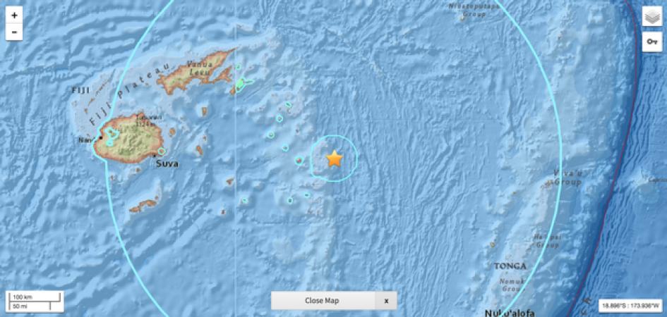 फिजी में महसूस हुए भूकंप के तेज झटके