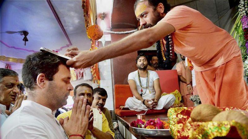 मंदिर दर्शन पर राहुल की सफाई