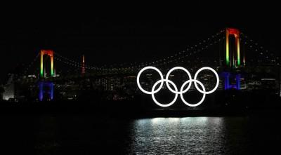 Olympic Rings back in Tokyo Bay