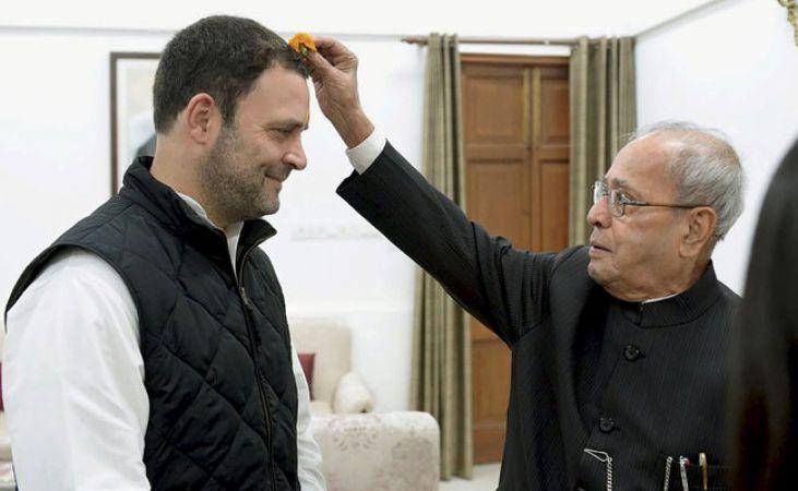 क्यों प्रणब मुखर्जी ने राहुल को लगाया तिलक ?