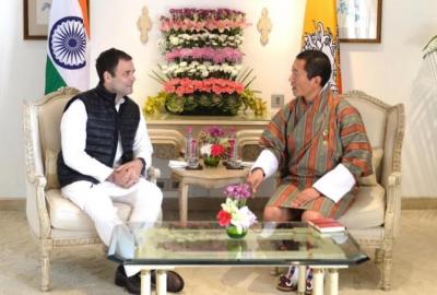 पीएम मोदी के बाद अब राहुल गाँधी से मिले भूटान के प्रधानमंत्री
