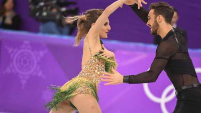Winter Olympics 2018: Wardrobe malfunction as French ice skater loses top