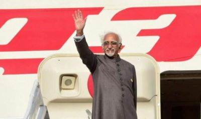 रवांडा-युगांडा के दौरे के बाद भारत लौटे अंसारी