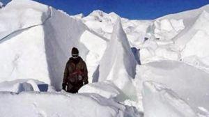 बर्फ में बनी रखवालोें की समाधि, हिमस्खलन से 15 जवान शहीद