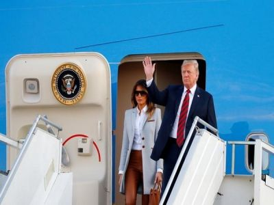Trump lands in Helsinki for face to face talks with Putin