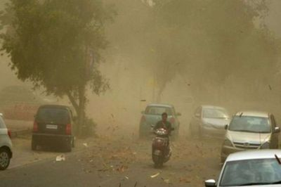 Raipur: People get relief from the heat due to dense cloud