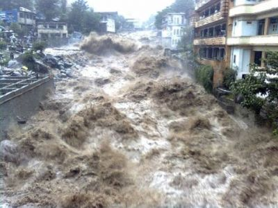 Heavy devastation caused by cloudburst in rural areas of Uttarakhand