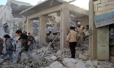 सीरिया: रूसी लड़ाकू विमानों की बमबारी में 44 नागरिकों की मौत
