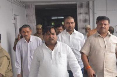 SP Minister Gayatri Prajapati arrested from Lucknow