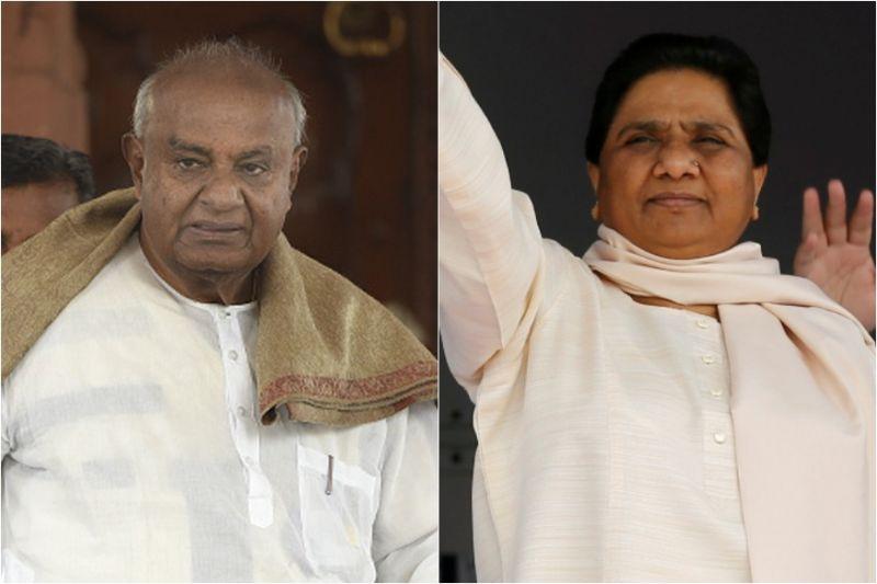 कर्नाटक: देवेगौड़ा को मिला मायावती साथ