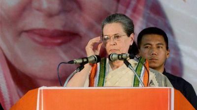 मोदी को कांग्रेस मुक्त भारत का भूत लग गया है- सोनिया गाँधी