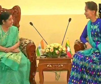 सुषमा स्वराज ने म्यांमार में सात समझौते किए