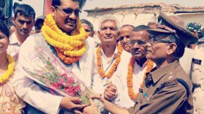 जनकपुर से अयोध्या पहुंची बस का हुआ भव्य स्वागत