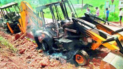 गढ़चिरौली में फिर नक्सलियों ने दिया आगजनी की वारदात को अंजाम