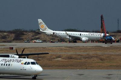 लैंडिंग के दौरान फेल हुआ विमान का गियर, करवानी पड़ी आपात लैंडिंग