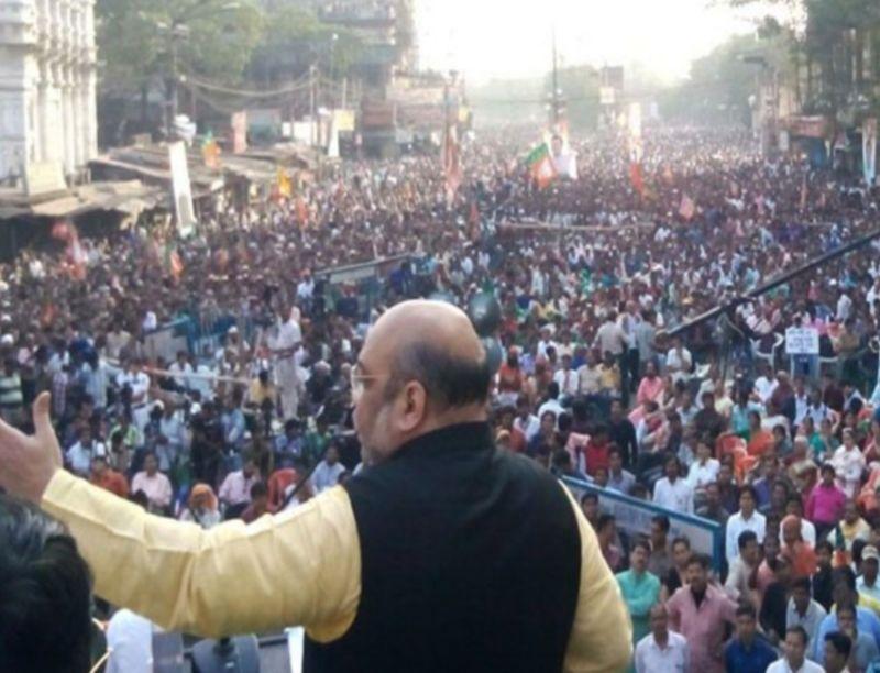 प.बंगाल : अमित शाह के रोड-शो में जमकर हंगामा, आपस में भिड़े भाजपा और टीएमसी कार्यकर्ता