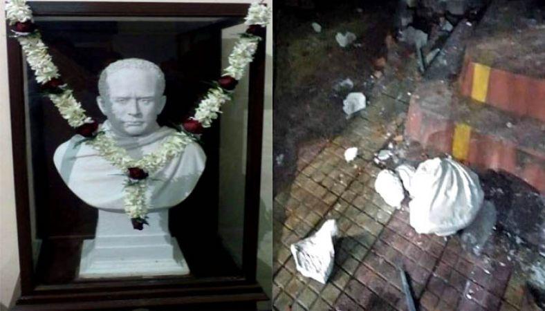 बंगाल में नहीं थम रहा बवाल, अब टीएमसी कार्यकर्ताओं ने तोड़ी विद्यासागर की प्रतिमा
