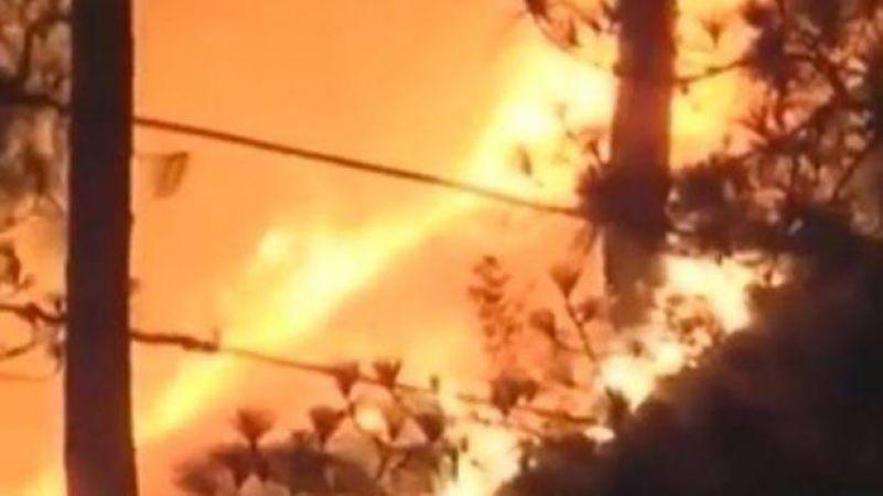 उत्तराखंड के जंगलो की आग आबादी तक पहुंची
