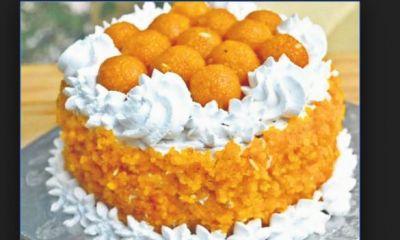 रुझानों में एनडीए आगे, बीजेपी दफ्तर में बना 7 किलो का लड्डू केक