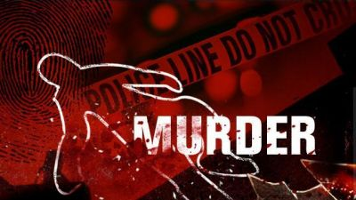 Husband murders wife in front of two children