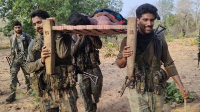 CRPF troopers put injured on shoulders and walk 5 km