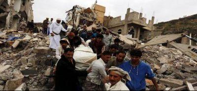 सऊदी गठबंधन ने यमन में किये हवाई हमले