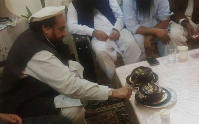 Hafiz Saeed cut the cake celebrate his release, aired video msg