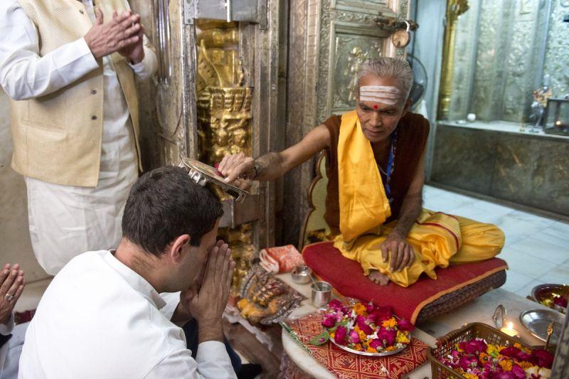 चुनाव प्रचार के लिए राहुल की भक्ति