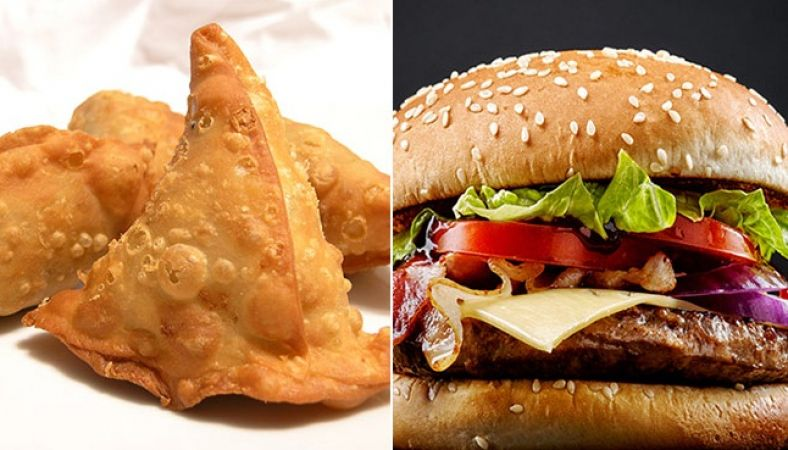 बर्गर नहीं समोसा है ज्यादा हेल्दी