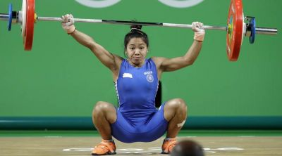 Mirabai Chanu win Gold in weightlifting for India.