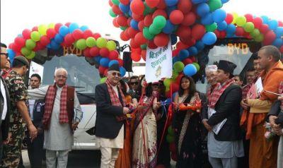 नेपाल ने खरीदी चीन से इलेक्ट्रिक बस, प्रधानमंत्री ने किया उद्घाटन