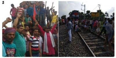भारत बंद लाइव अपडेट: बिहार में ट्रेन रोकी गई, टायरों को आग लगाई गई