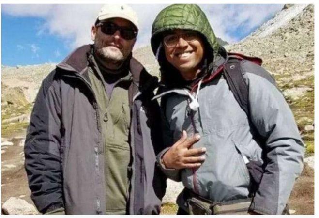 मानसरोवर यात्रा के दौरान ली गई तस्वीर पर घिरे राहुल, सोशल मीडिया पर लोग कस रहे तंज